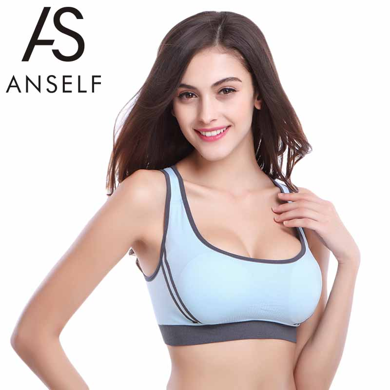 2016 Summer Style Women Sports Bra Plus Size Padded Push Up Bra Seamless Crop Tops Racer Back Running Gym Shakeproof Fitness Bra(China (Mainland))