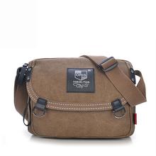 Unisex Vintage Fashion Canvas Hasp Messenger Bag Men's Casual Travel Military Shoulder Bag Women College School Crossbody Bag