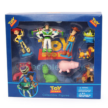 9Pcs/set New Arrival Toy Story Buzz lightyear Woody Jessie Little Green Alien Figure Toys with Box Free Shipping(China (Mainland))
