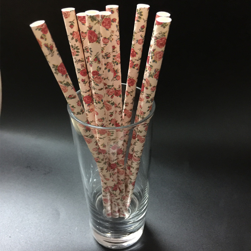 Birthday Party Paper Drinking Straws Decorations Drinking Tubes Wedding Decorative Party Supplies Decoration Baby Shower(China (Mainland))