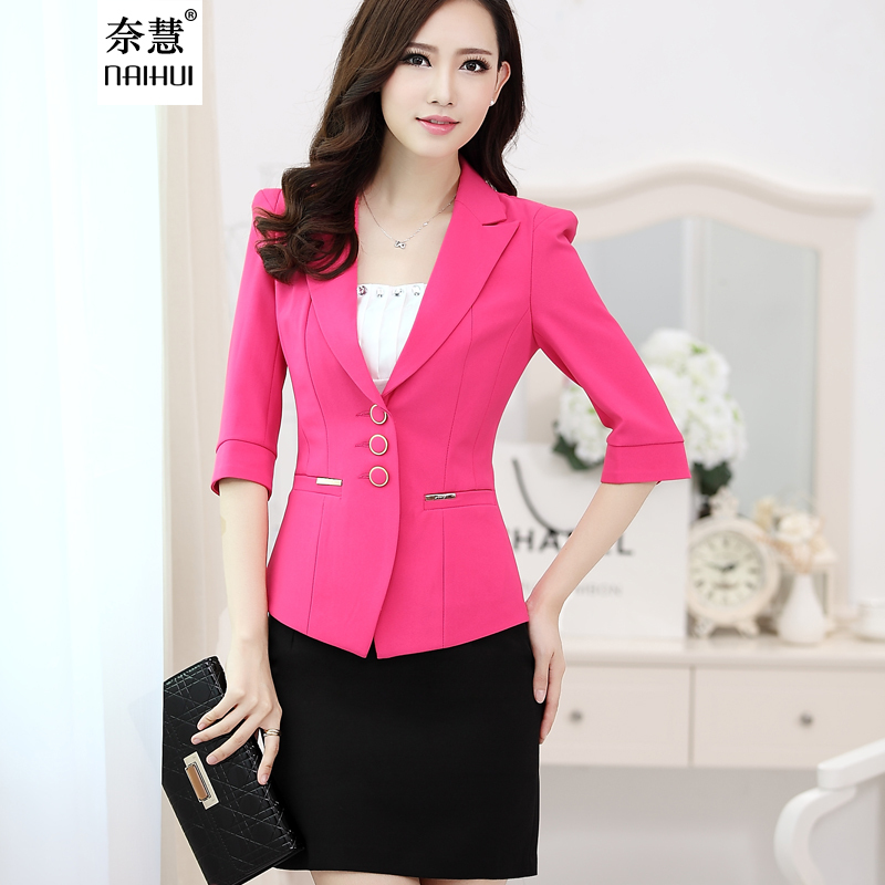 Jacket 2012 Picture - More Detailed Picture About New Elegant Rose Red Female Blazers Uniform ...