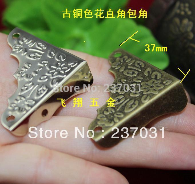 37MM side length of rectangular corners / wooden gift box four corners / trim angle code / Antique Floral wrap angle iron<br><br>Aliexpress