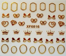 2016 New Limited Manicure Xf 3d Gold Nail Sticker 72 Polish Do Not Fade After Xf6016 (China (Mainland))