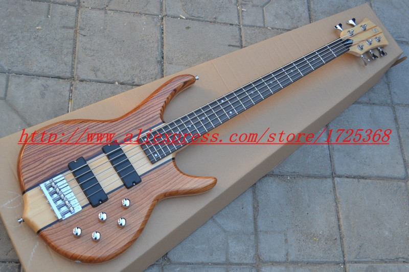qualitypay pal Wholesale S-mith 9V Musical Instrument electric bass 5 strings neck thru china cheap guitar! Free Shipping(China (Mainland))