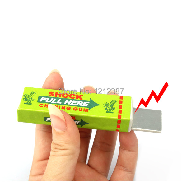 Safety Trick Joke Toy Electric Shock Shocking Chewing Gum Pull Head HB88(China (Mainland))