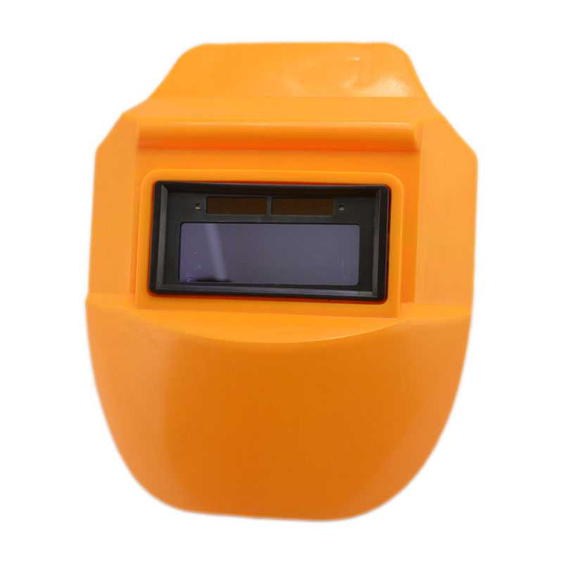 Free Shipping Apple Orange Welding Helmet View Area 90*32 Inner Lithium Cell Solar Power Full Automatic Welding Mask Low Price(China (Mainland))