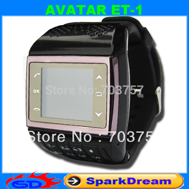 AVATAR ET-1 Phone Watch With Quadband Touch Screen FM radio MP3 number keypad wrist cell phone(China (Mainland))