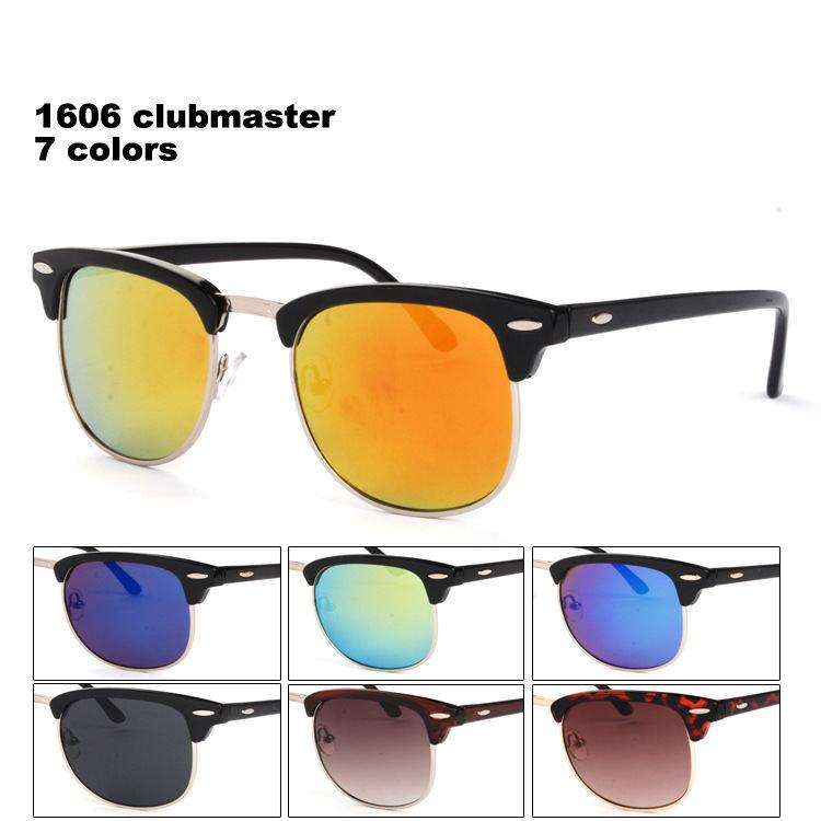 Clubmaster rb 3016 retro Vintage coating half frame fashion glasses gafas lunette de soleil oculos de sol feminino band ban m206(China (Mainland))
