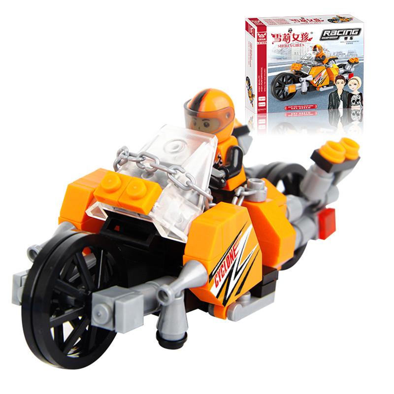 118pcs Building Blocks Cool off-road motorcycles DIY Bricks Brinquedo Christmas birthday gift Educational Bricks Toys oyuncak
