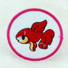 Buy 10PCS NEW 5CM Red goldfish Design Iron Sewing Embroidered Patches Cloth Badge Garment Motif Appliques Patch DIY Accessory for $4.18 in AliExpress store