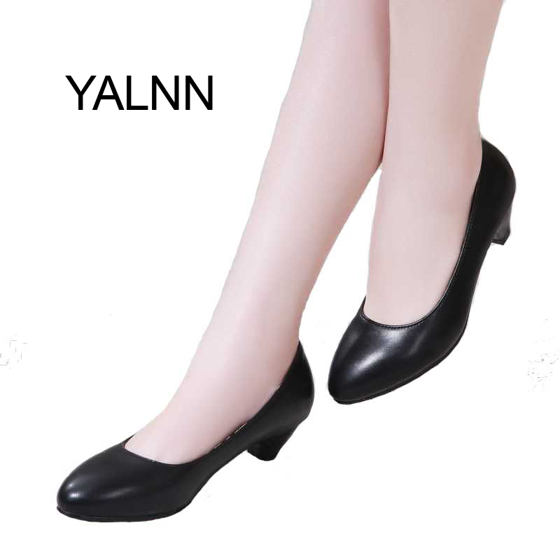 Women shoes 3cm Black high heels zapatos mujer pump for Mature women 2016 new fashion shoes Office lady Dress(China (Mainland))