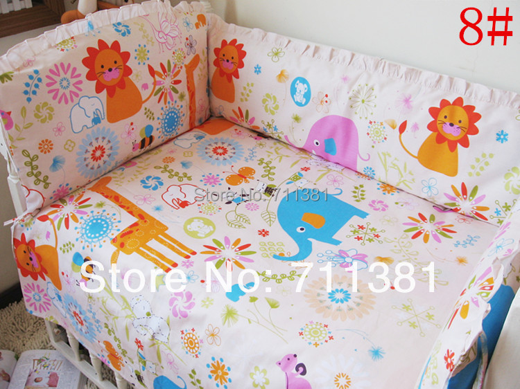 Baby Unisex Bedding Set For Bumper Cot Classic Cartoon Design & Honesty Service Bed Set For Newborn With The Free Of Shipment(China (Mainland))