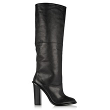 2014  Women's Round Toe Square Heel Knee High  Boots Large Size US 4-19(China (Mainland))