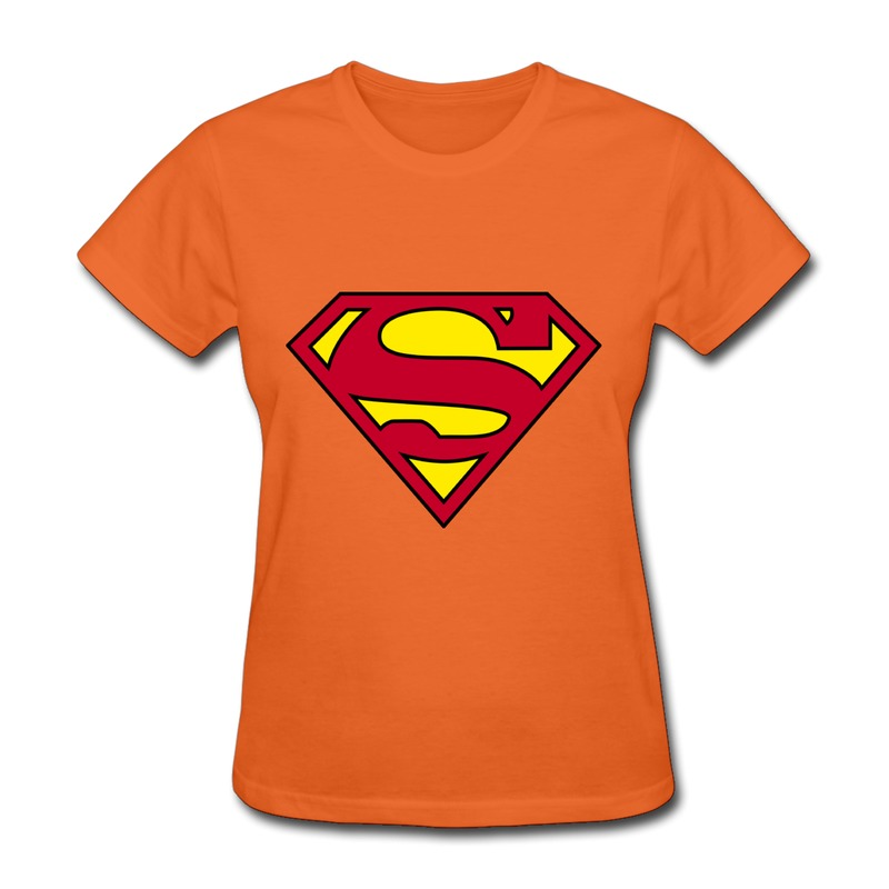 2014 original female 100 cotton tshirt superman logo make Build your own t shirts