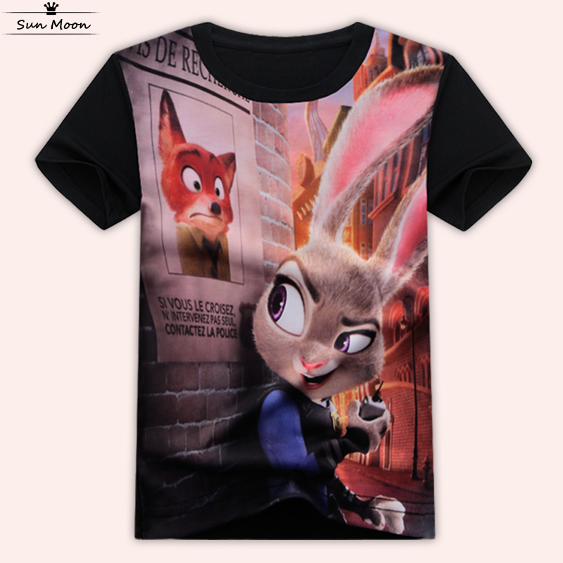 2016 zootopia t-shirt boys clothes minion t shirt kids fashion children clothing brand baby girl clothes cartoon tee shirt fille(China (Mainland))