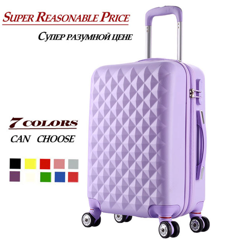 """20""""24""""28""""inch High quality Trolley suitcase luggage traveller case box Pull Rod trunk rolling spinner wheels ABS+PC boarding bag(China (Mainland))"""