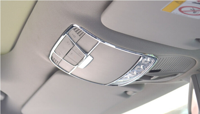 Car Interior Roof Button Glasses Box Decorative Frame Cover Trim Car Styling Chrome Abs Strip