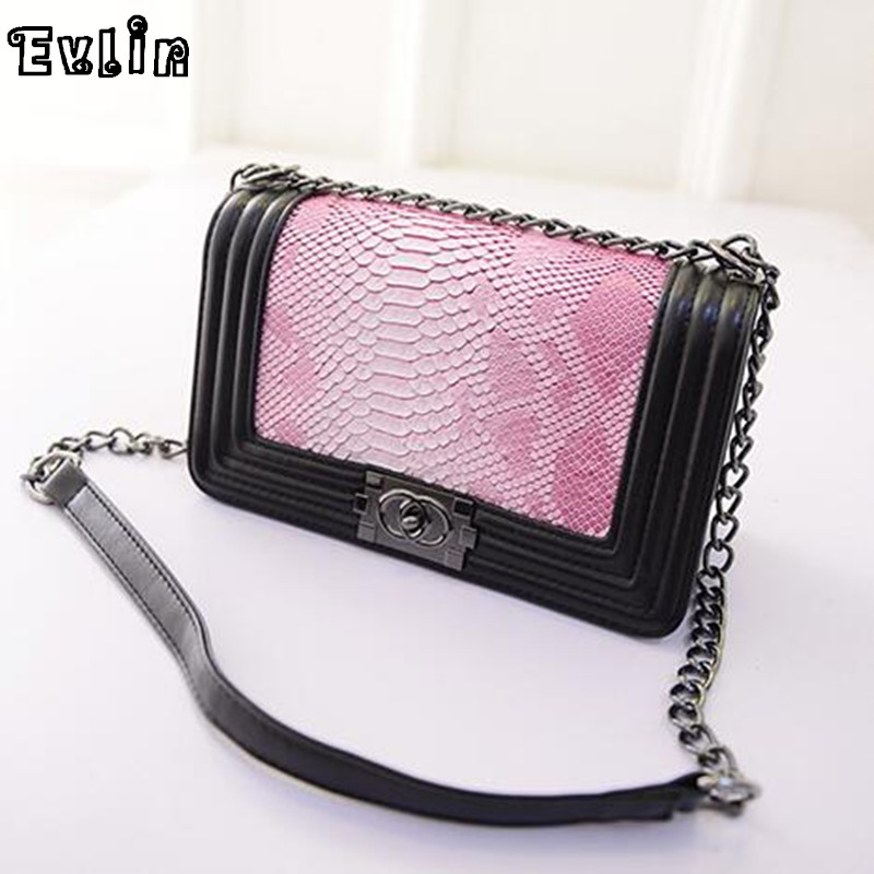 Women Messenger Bags Fashion Famous Brand Woman Shoulder Bag Female Leather  Crossbody Bags Snakeskin Grain Black AW389-033<br><br>Aliexpress