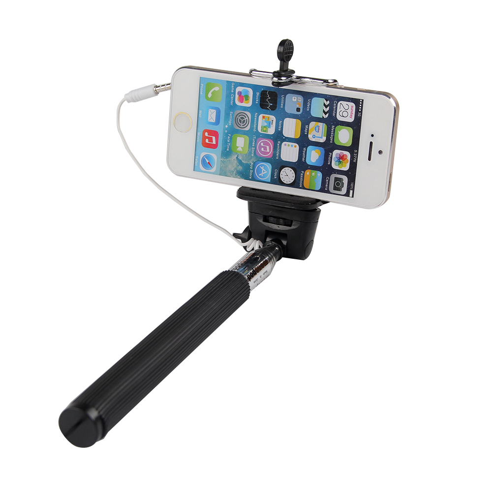 monopod selfie stick telescopic wired remote mobile phone holder ebay. Black Bedroom Furniture Sets. Home Design Ideas