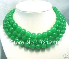 Buy 10mm natural stone dyed green stone chalcedony round beads necklace women long chain strand diy jewelry 50inch GE5279 for $8.66 in AliExpress store