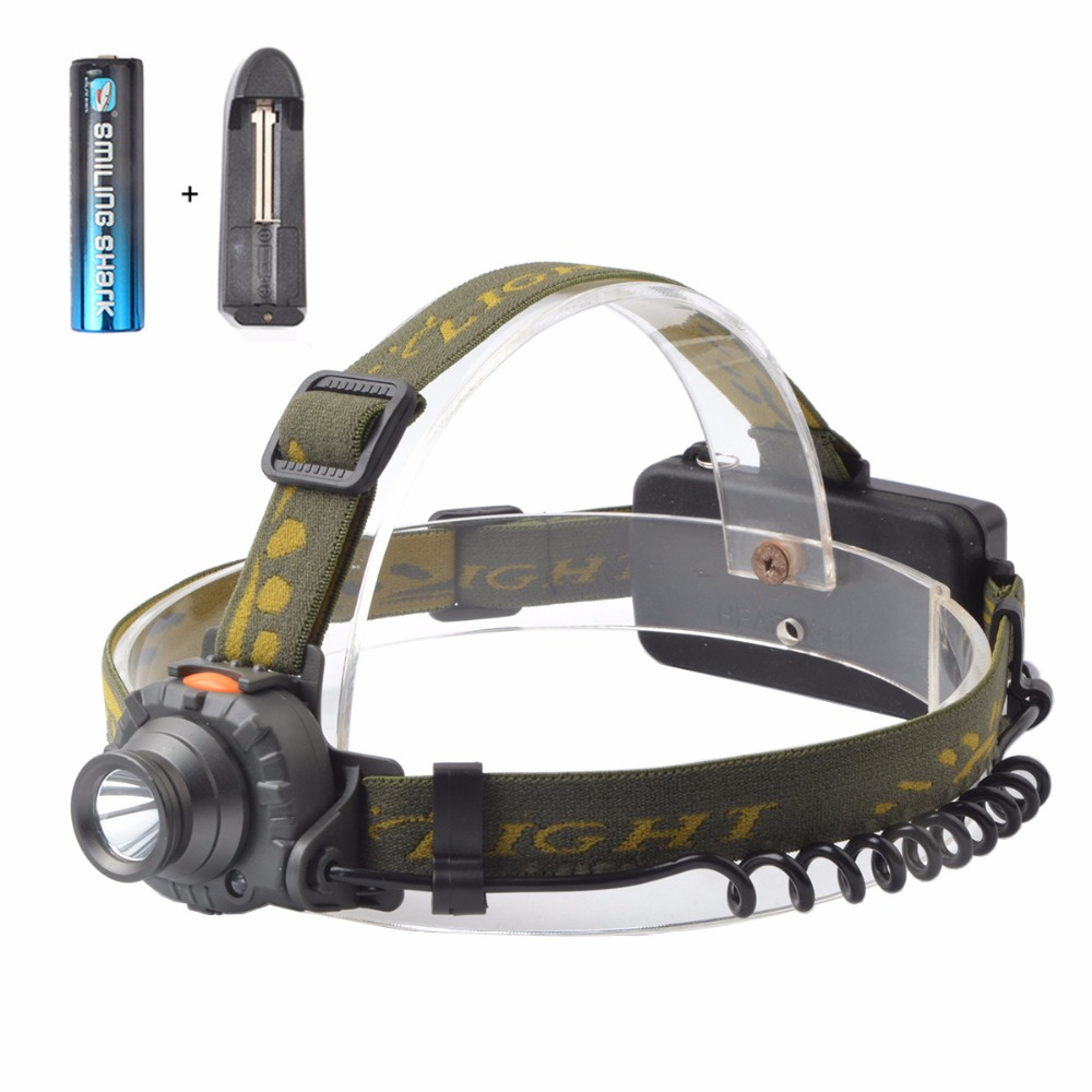 Powerful 200 Lumen CREE LED Headlamp Flashlight With Motion Sensor,Included 18650 Rechargeable Battery and Charger(China (Mainland))