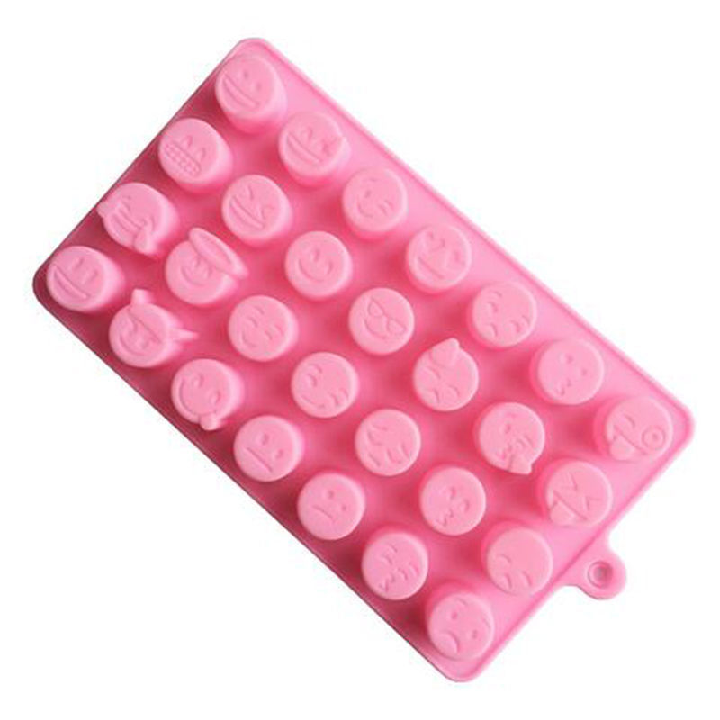 New Arrival Emoji Expression Silicone Mold For Cake Chocolates Candy Ice Baking randomly color(China (Mainland))