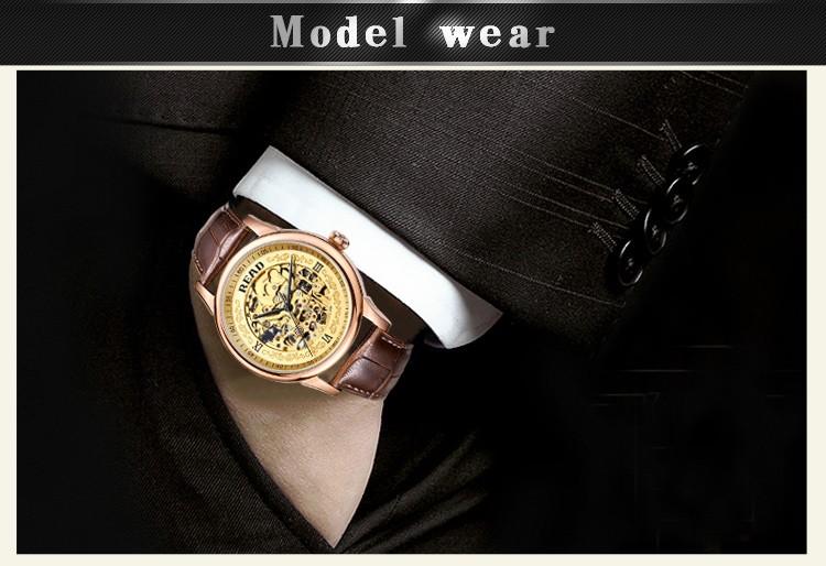 READ Luxury brand automatic mechanical watch Men's Fashion Hollow Business Watch relogio masculino full steel Waterproof watch
