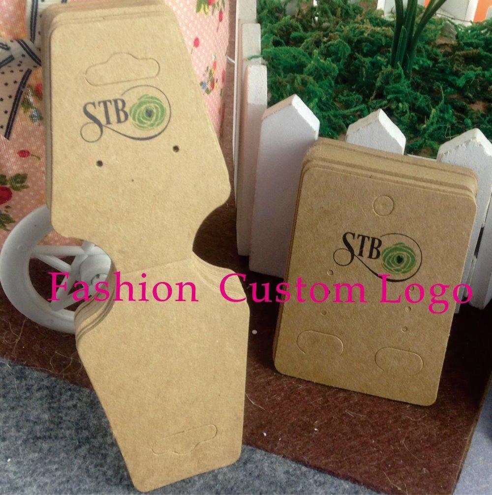 Necklace Display card Custom Logo Jewelry Set Card Custom Name Kraft Earring Card Custom Design Printting Logo MOQ : 1000 PCS(China (Mainland))