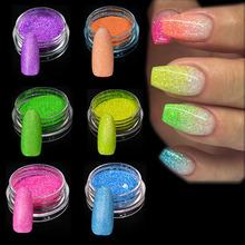 Buy Trendy Nail 1g 6pcs/set New Arrival Nail Art Glitters Decoration Fluorescence Shinning Nails Glitter Powder Dust JIYG01-06 for $2.68 in AliExpress store