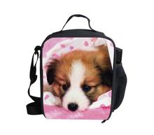 Fashion 3D Zoo Animals Leopard Panda Horse Printing Lunch Bags,Pet Pug/Bulldog/Cat/Pig Lunchbox for Kids,Thermal Picnic Food Bag(China (Mainland))