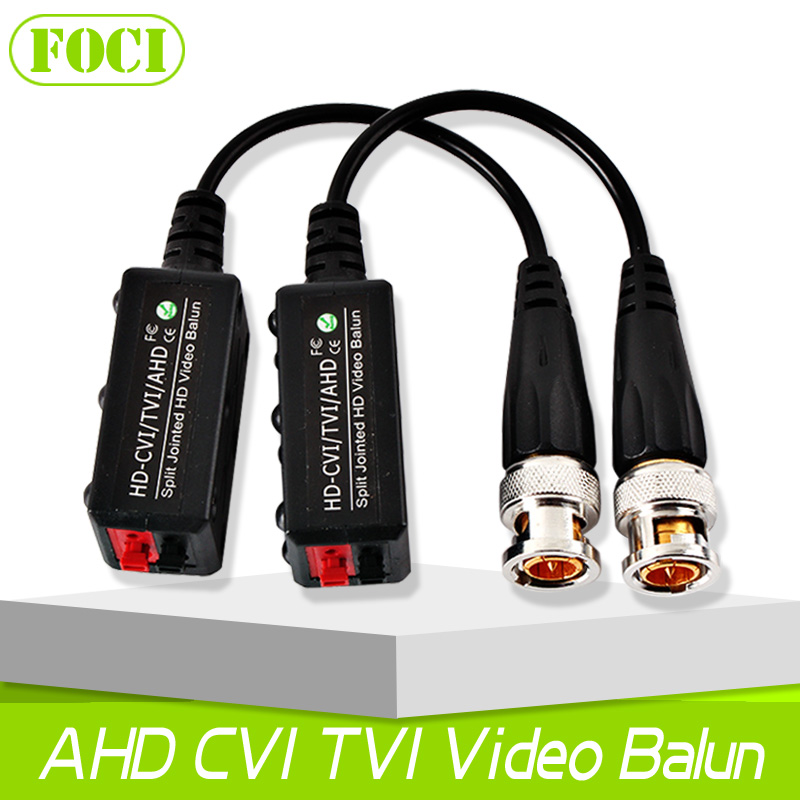 High Definition Transceiver 1Pair Video Balun UTP Cable Coaxial Adapter Support 200-450m Distance AHD/HDCVI/HDTVI Cameras(China (Mainland))