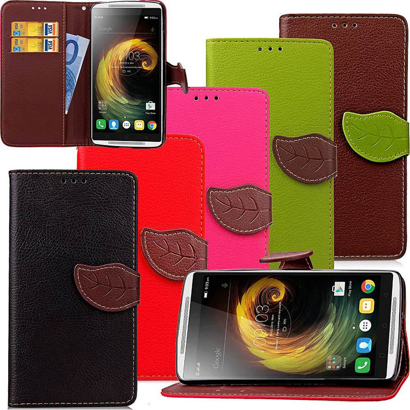 K3 / K4 Note Luxury Leather Flip Wallet Stand Mobile Phone Cover For Coque Lenovo Vibe K4Note / K3Note CellPhone Silicone Case(China (Mainland))
