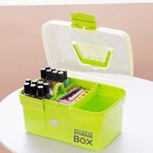 New Plastic Multifunction Makeup Storage Box Organizer Lipstick Holder Nail Polish Rack Desktop Cosmetic Tools Shelf Container(China)