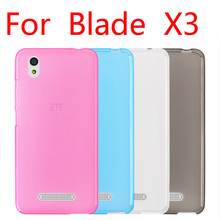 For ZTE blade X3 D2 matte case soft TPU  cover Transparent clear cell phone etui coque for ZTE X3 free  shipping P6