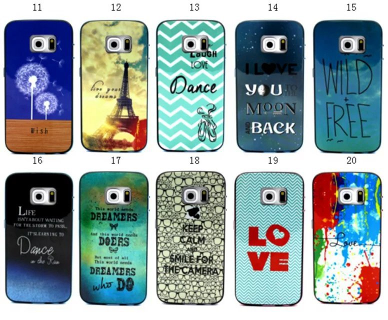 SGP Bumblebee NEO Hybrid Cover Case 2 in 1 Soft TPU + Hard PC Dandelion Painting For Samsung Galaxy S6 edge G925 G9250(China (Mainland))