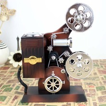 Retro Ancient Europe Movie projector music box with Castle in the Sky best birthday gift for kids