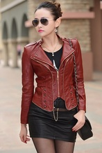 Feminina Jaqueta Feminin 2016 Leather Jacket Women Motorcycle Coat Slim Womens Short Biker Faux Leather Jackets Supernova Sale(China (Mainland))