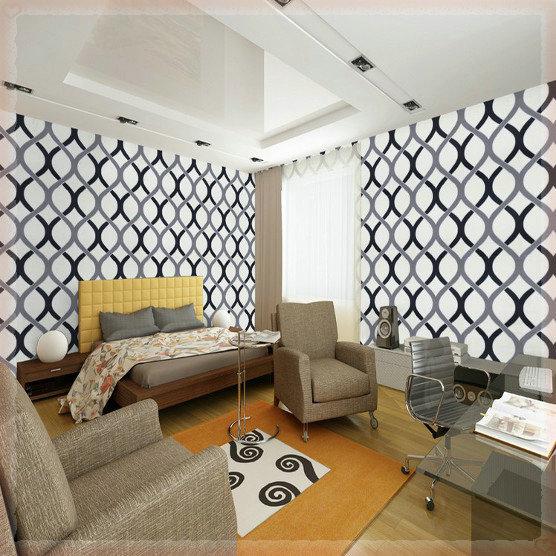 moderna rotolo pvc carta da parati sfondo muro per soggiorno ...