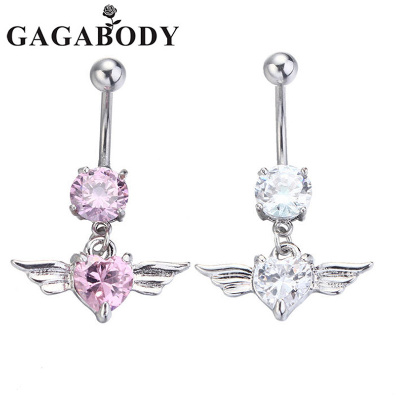 Newest silver gold navel belly button ring rhinestone bar for Belly button jewelry store