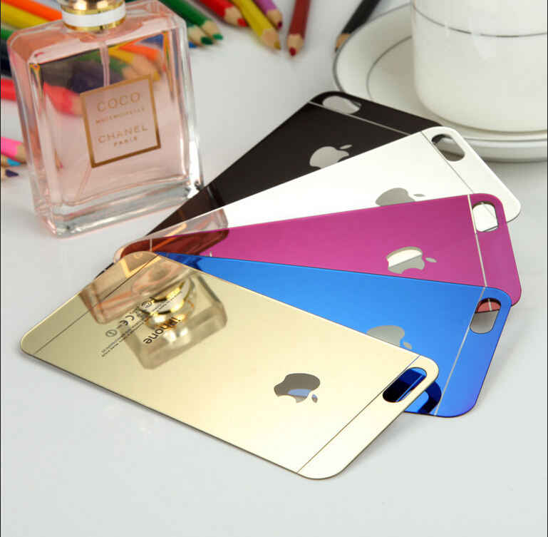 for iPhone 4 4S mirror front+back Tempered Glass Screen Protector colorful Protective Film luxury fashionable screen gurad(China (Mainland))