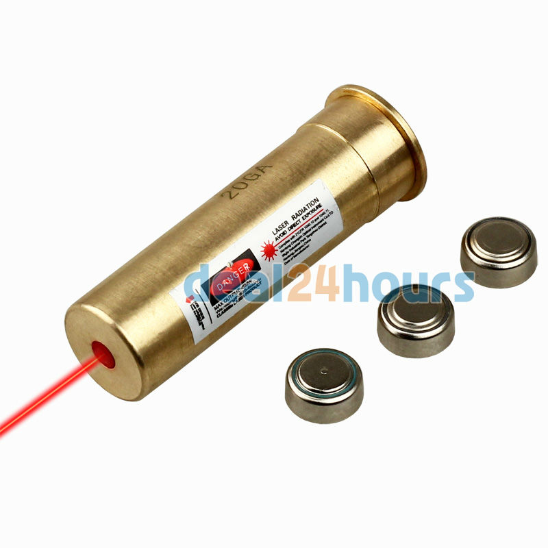 Tactical Red Laser Bore Sighter Sighting Sight 20GA 20 Gauge Boresight Cartridge Free Shipping(China (Mainland))