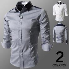 The spring 2015 of the new men s fashionable Ribbon Shirt dress shirts 8098