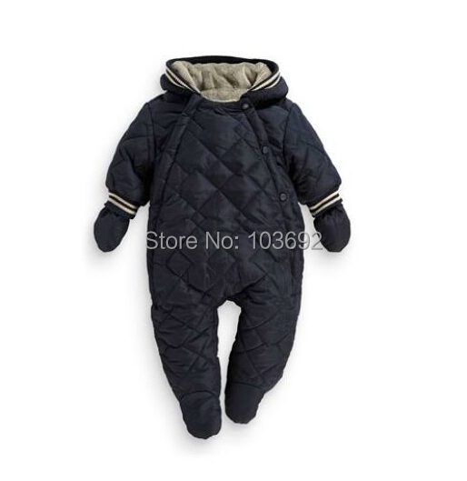 Free shipping New 2015 winter baby clothing baby boys girls cotton-padded rompers children warm clothes kids flannel jumpsuits