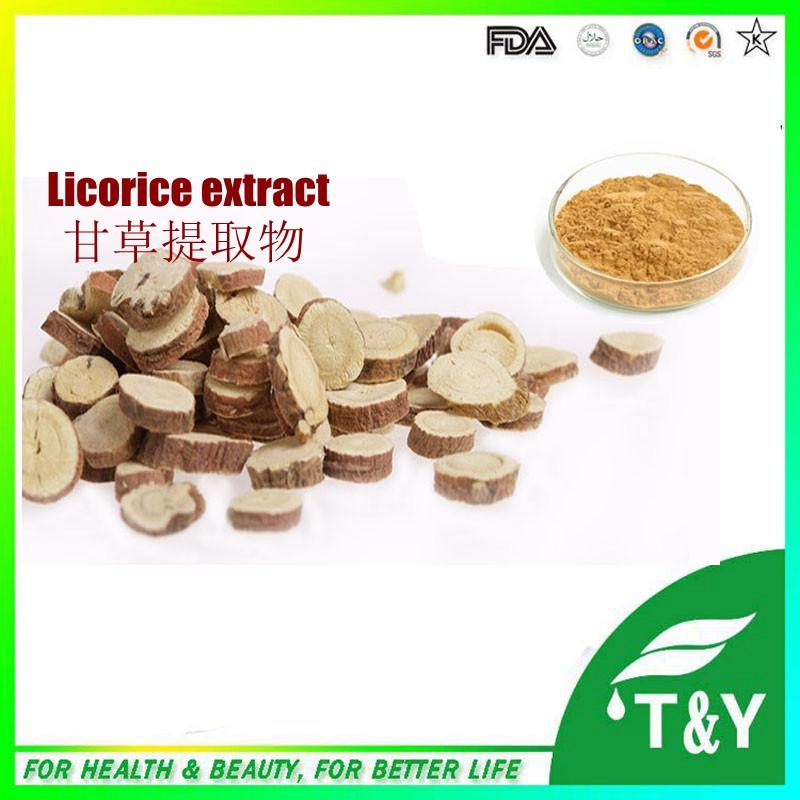 China Manufacturers Supply Licorice Root Extract / Radix Glycyrrhiza Extract with Glycyrrhizic Acid Powder 700g