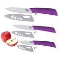 2015 Hot High Quality Flower Painted Zirconia Ceramic Kitchen Knife Set Fruit Knife 3 4 5