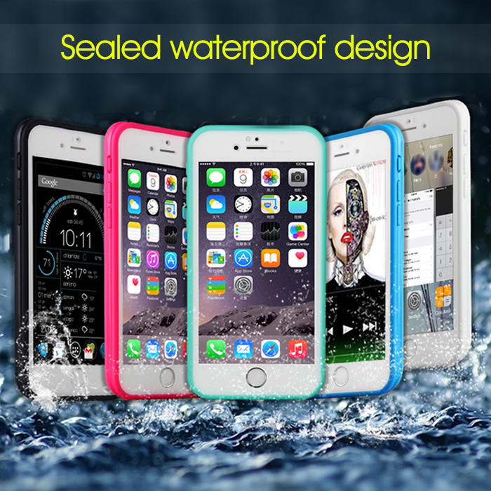"100% Original WaterProof ShockProof Full Body Soft Case for iPhone 6 6s 4.7"" Inch Mobile Phone Cover Cases(China (Mainland))"