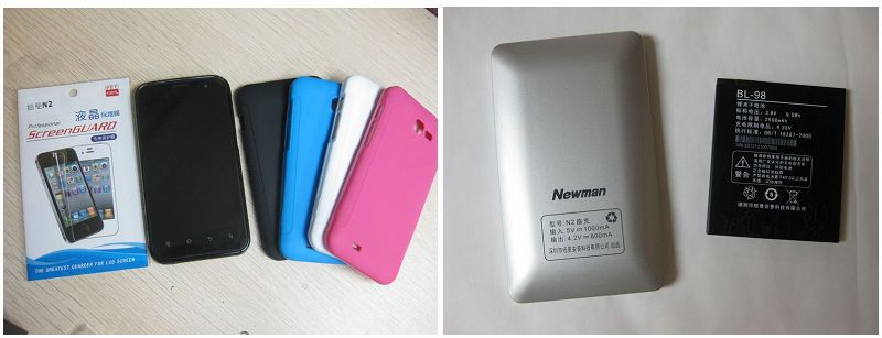 original 2500mah battery +seat charger+screen protector film+ back cover case for newman N2 3g mtk6577 smart phone