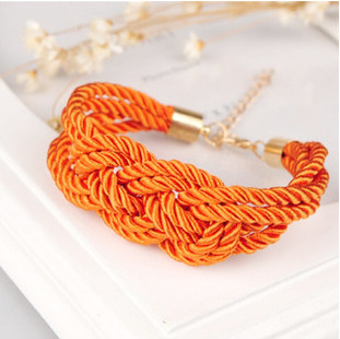 Promotion! ! Fashion Lady Women Bracelets Jewelry Candy Color Knitted Chinese Knot BR403 - Shero Shop(Min,order $ 10+Gift store)