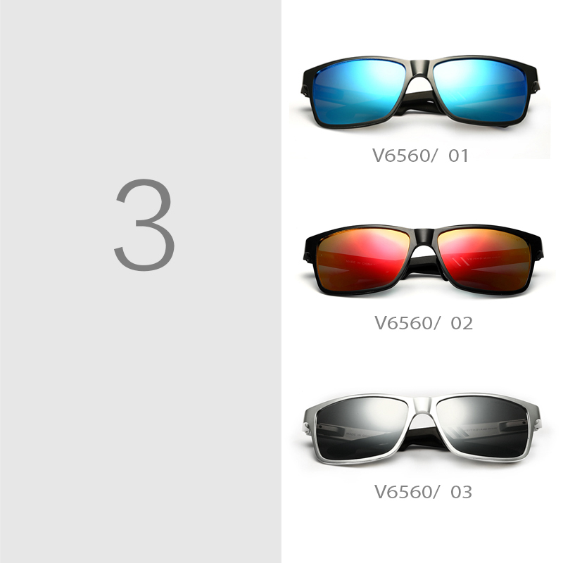 Aluminum Wayfarer Sunglasses Polarized Lens Men Sun Glasses Mirror Male Driving Fishing Outdoor Eyewears Accessories 6560