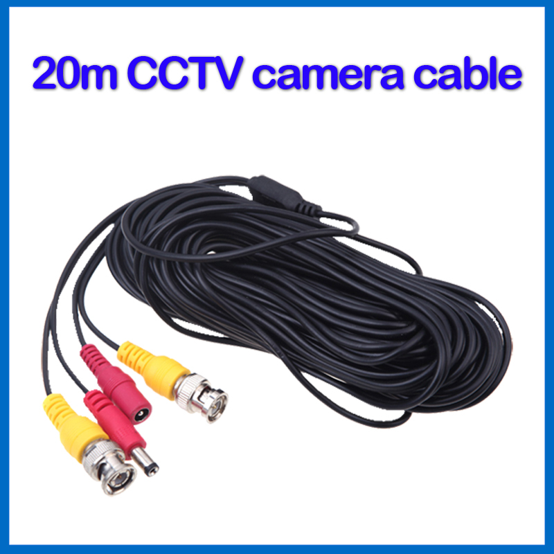 20 meter CCTV Camera Accessories BNC Video Power Coaxial Cable for Surveillance DVR Kit Length 20m 65ft(China (Mainland))